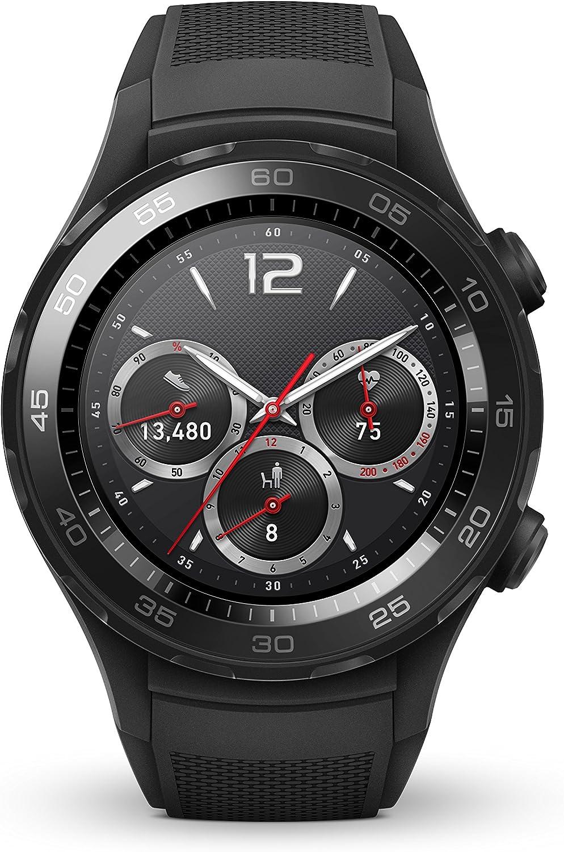 Huawei Watch 2 Sport Bluetooth (4GB Storage, IP68) Smartwatch (Carbon Black) - International Version
