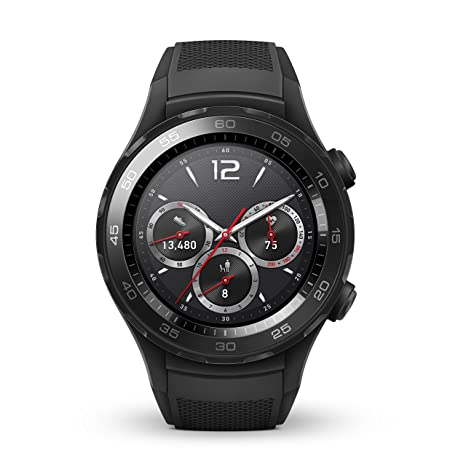 Huawei Watch 2 Sport Bluetooth (4GB Storage, IP68) Smartwatch (Carbon Black) - International Version