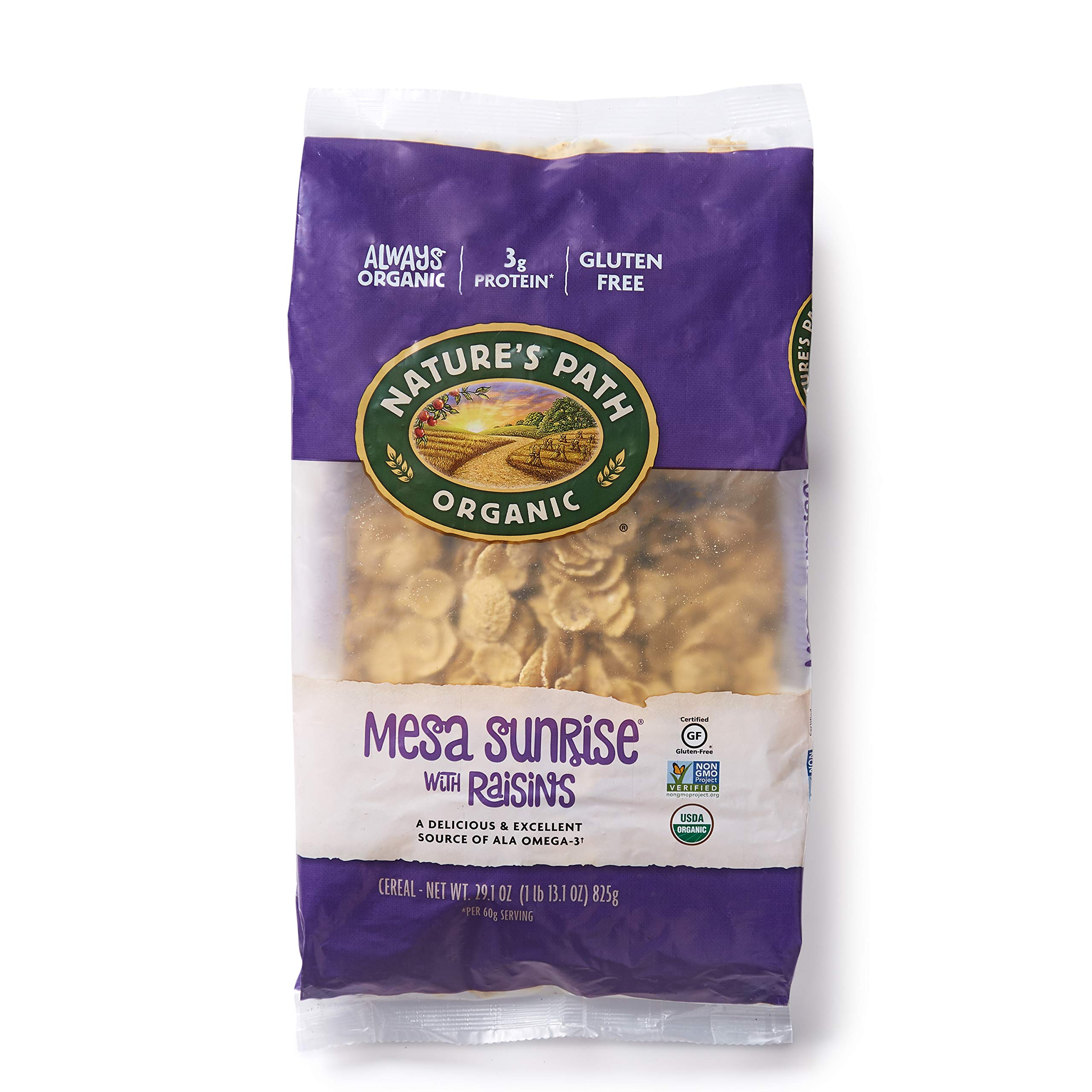 Nature's Path Mesa Sunrise with Raisins Cereal, Healthy, Organic, Gluten-Free, 29.1 Ounce (Pack of 6) by Nature's Path