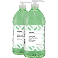 Amazon Brand - Solimo Advanced Hand Sanitizer with Aloe and Vitamin E (institutional size), 2 Liters (Pack of 2)