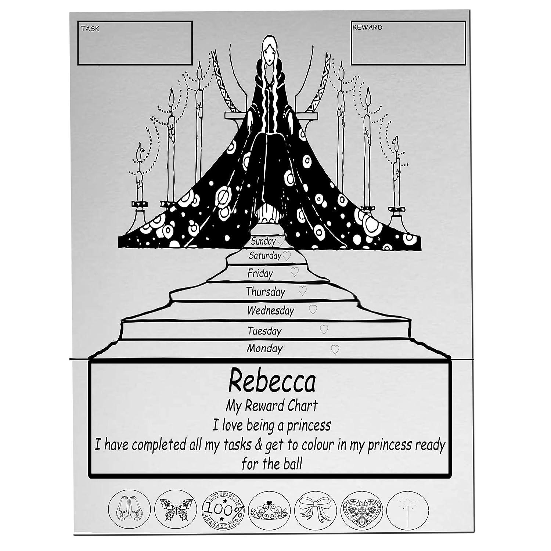 Princesa Niñas personalizable nombre para colorear magnético A4 ...