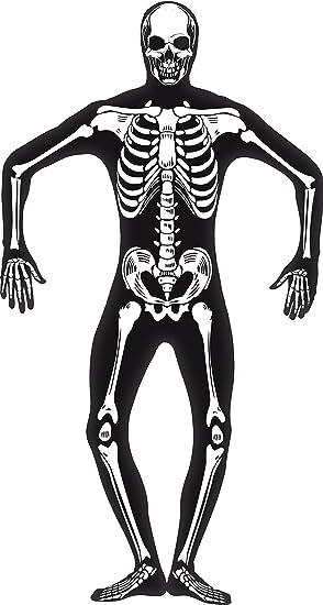 Smiffy\'s Disfraz de esqueleto (pegado al cuerpo), talla M (24618M ...