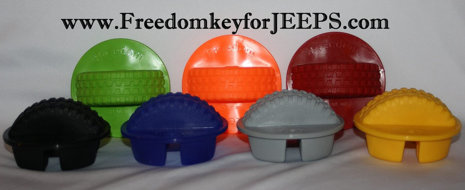 Blue Freedom Key for Jeeps 2007-2016 Jeep Wrangler Hardtop Freedom Panel Knob Removal Tool.