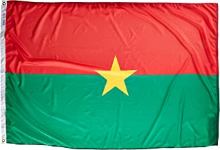product image for Annin Flagmakers Model 199138 Burkina-Faso Flag Nylon SolarGuard NYL-Glo, 4x6 ft, 100% Made in USA to Official United Nations Design Specifications