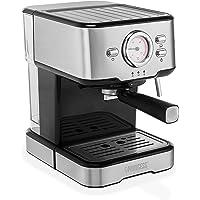 Princess 249412 Espressomachine – Met melkopschuimpijpjes voor cappucino en latte macchiato – 2 kopjes