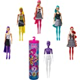 Barbie Color Reveal Doll Color-Block Series with 7 Surprises: 4 Mystery Bags Contain Surprise Hair Piece, Skirt, Shoes…