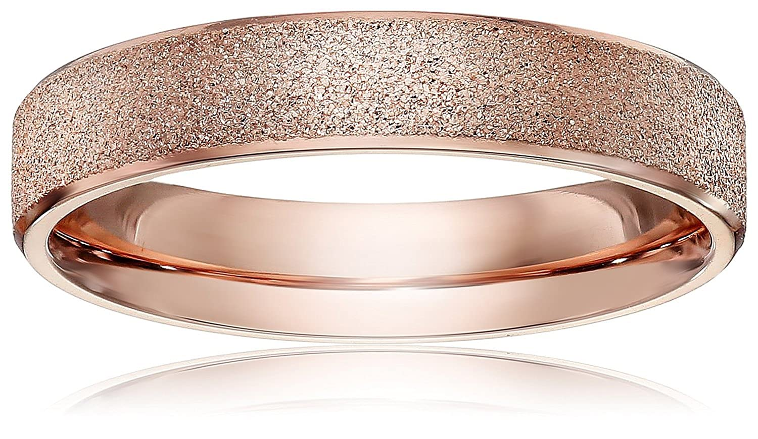 LOVE Beauties Brand New 4mm Women's Titanium Rose Gold Wedding Band Ring (Size Selectable) VP-ELY4-VMLM