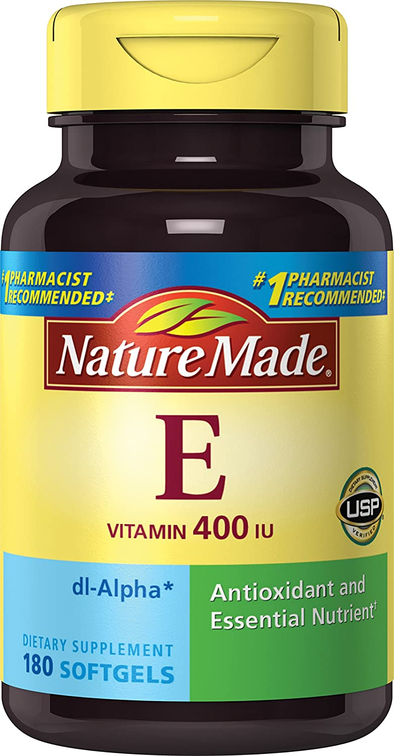 Amazon.com: Nature Made Vitamin E 400IU, 180 Softgels (Pack of 2): Health & Personal Care