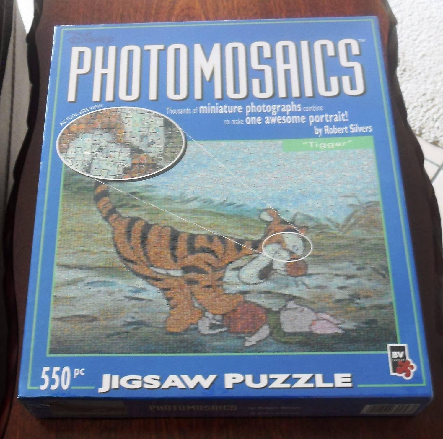 PHOTOMOSAIC 550 PIECE PUZZLE TIGER BY ROBERT SILVERS by BV LEISURE Forniture per l'istruzione