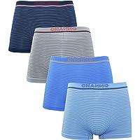 Channo Calzoncillos Boxer Lycra de niños sin Costuras con Rayas horizontales