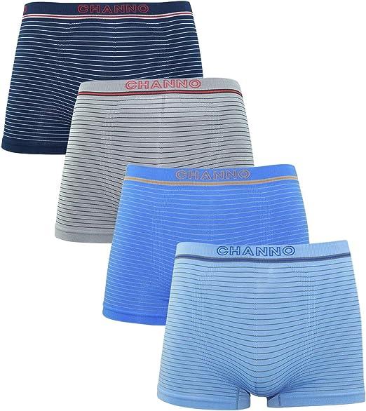 Channo Pack de 4 - Calzoncillos Boxer Lycra de niños sin Costuras ...