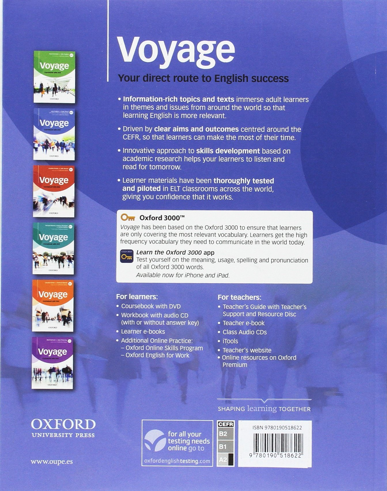 Voyage Elementary A2 Students Book and DVD Pack: Amazon.es: Dummett, Paul, Hughes, Jake, Wood, Katie: Libros