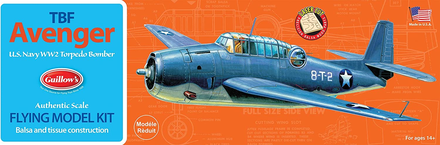 Guillow's Grumman TBF Avenger Model Kit