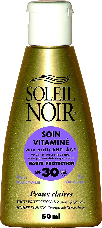Soleil Noir Soin Vitamine Indice 30 Creme Solaire 50ml 17