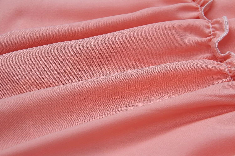 ECOWISH Womens V-Neck Spaghetti Strap Bowknot Backless Sleeveless Lace Mini Swing Skater Dress