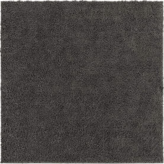 Rugs.com Everyday Shag Rug Dark Gray 8 Ft Square Shag Rug Perfect