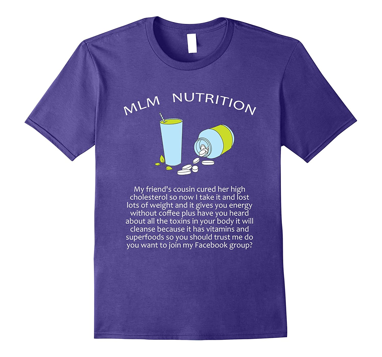 Funny MLM Nutrition T Shirt - Run on Diet sales pitch-Vaci