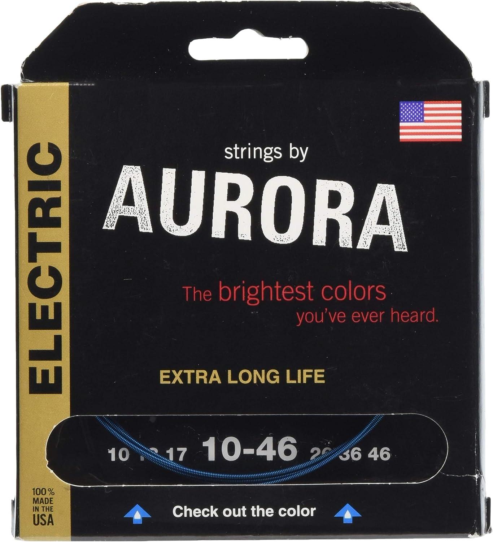 Aurora Strings Premium 10-46 - Cuerdas para guitarra eléctrica chapadas en níquel