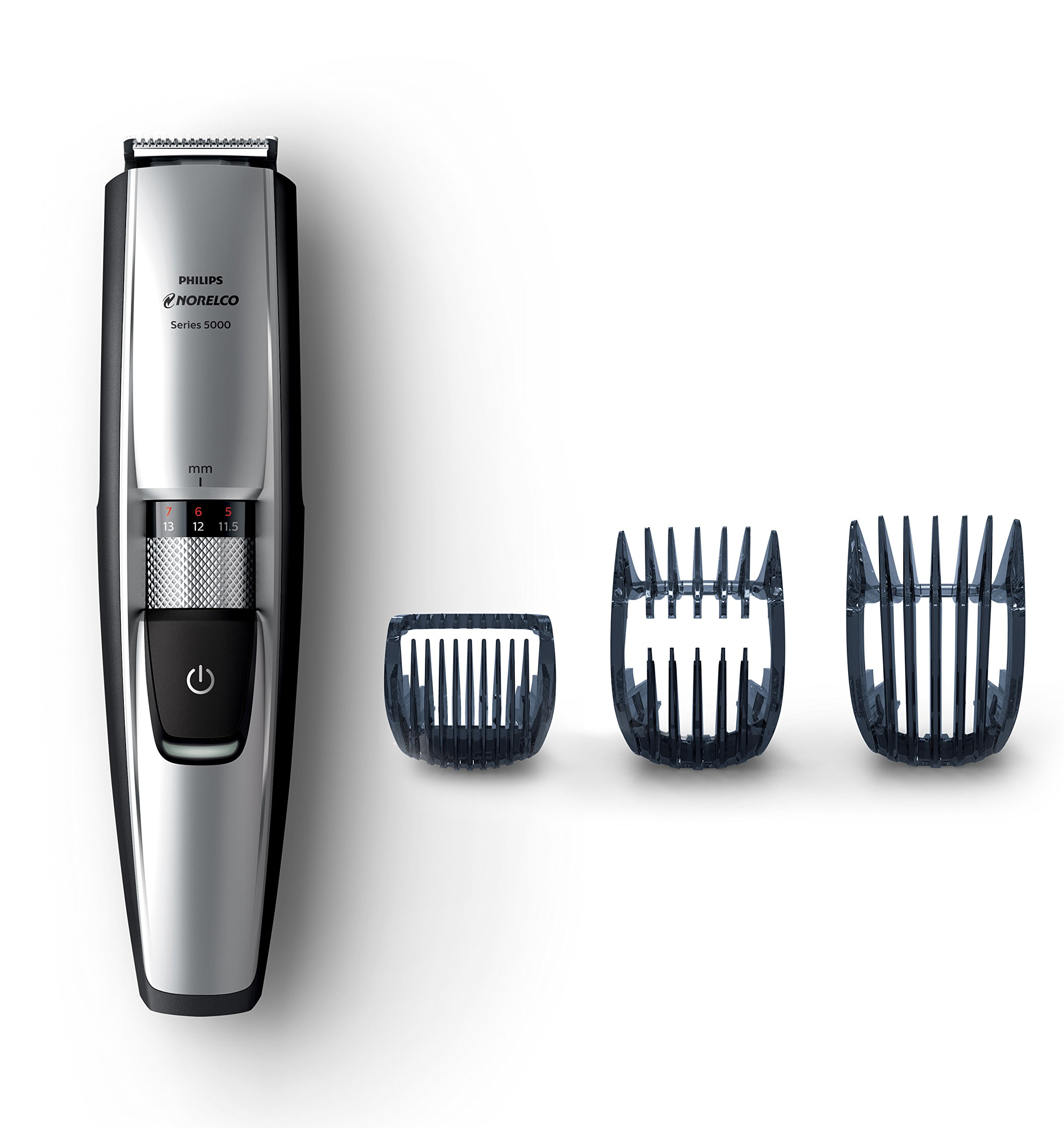 Philips Norelco Beard and Hair Trimmer BT5210/42 - cordless grooming, rechargable, adjustable length, hair clipper, beard, stubble, and mustache groomer