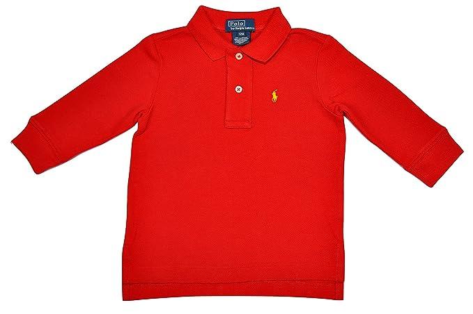 3cf3c6de3 Polo Ralph Lauren - Polo - para bebé niño rojo 12 meses  Amazon.es  Ropa y  accesorios
