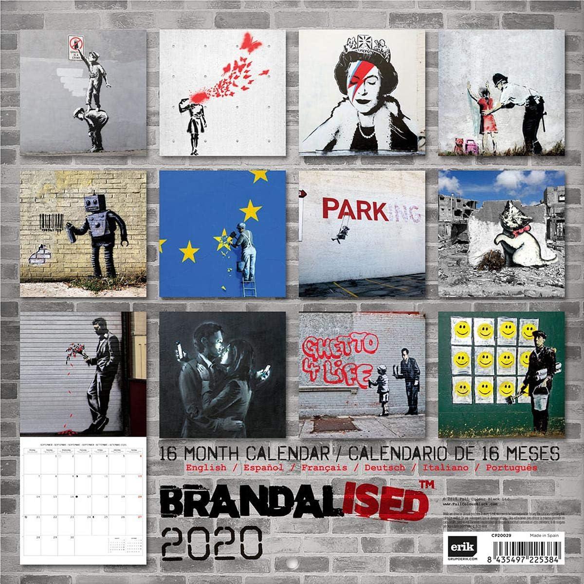 Banksy Brandalised - Calendario 2020, 16 Meses, versión Original ...