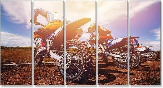Cuadro Cuadros Bicicleta Sucia. El Equipo de Motocross en ...