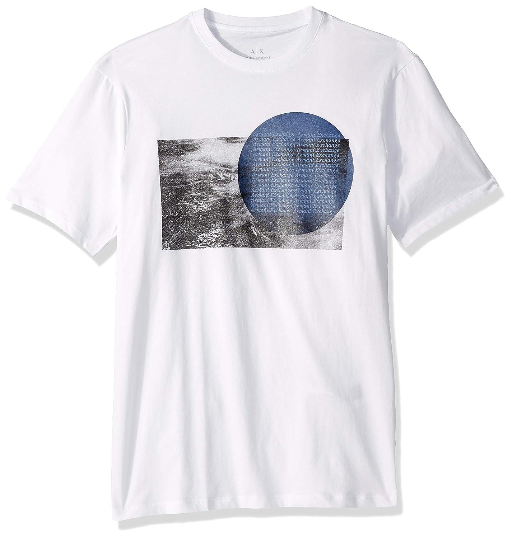 6f382583 Amazon.com: A|X Armani Exchange Men's Short Sleeve Crew Neck Graphic ...