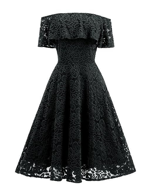f38d11a3771de Adodress Women's Lace Short Prom Dresses Short Sleeve off Shoulder Casual  Swing Cocktail Homecoming Dresses