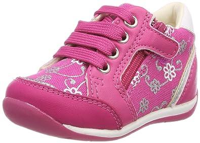 Geox Baby Mädchen B New Balu' Girl A Sneaker, Pink (DK Pink), 24 EU