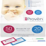 Ovulation Test Strips and Pregnancy Test Kit - 50 LH and 20 HCG - OPK Ovulation Predictor Kit iProven FK-127