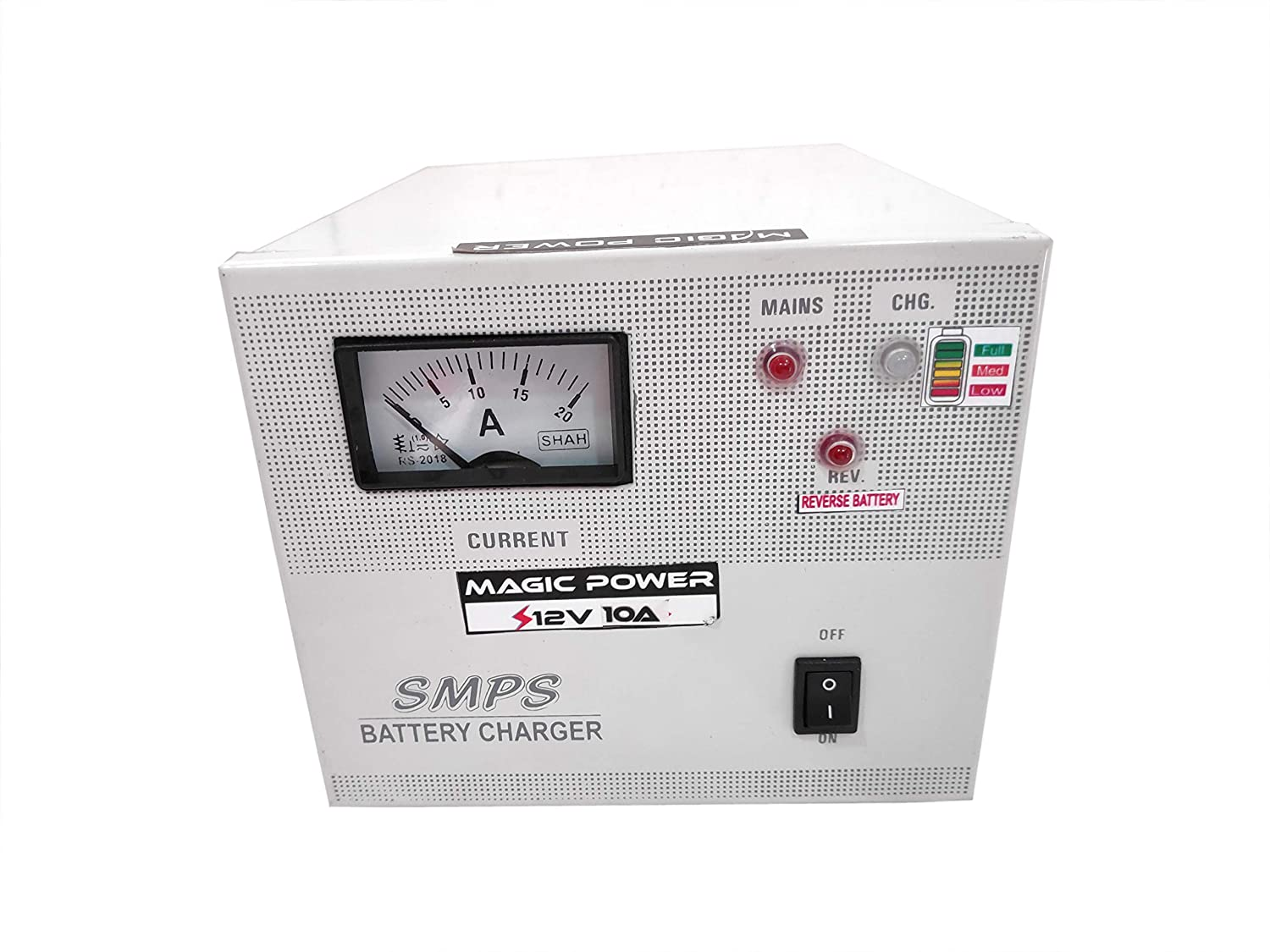 Magic Power 12Volts 10Ampere SMPS Alkaline/Lead Acid Battery Charger  Automoblie/ Inverter Battery