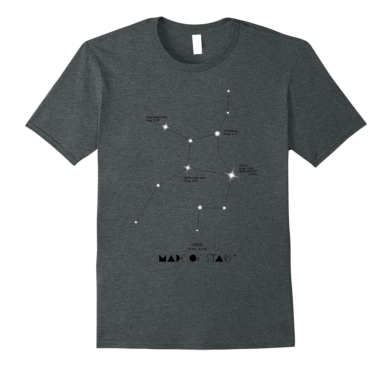 Virgo Horoscope T-Shirt Astrology Zodiac Made of Stars-RT