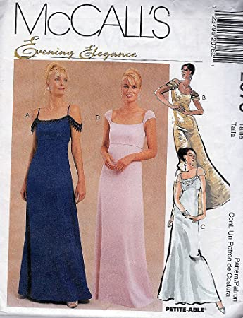 Amazon.com: McCall's 2076 ©1999 Misses Evening