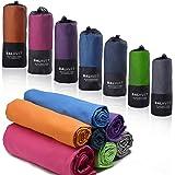 Balhvit Super Absorbent Microfiber Towel, 4 Sizes - 7 Colors I Quick Drying Yoga Golf Gym Travel Towel, Soft Antibacterial Lightweight Towels for Beach Sport Bath, Gift Bag