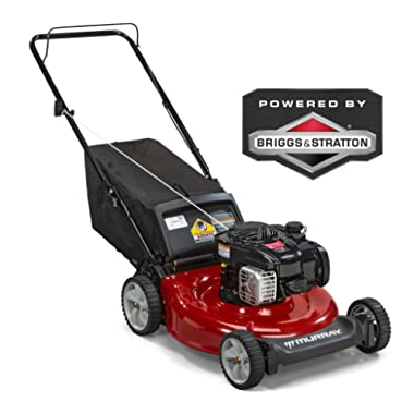 Murray 21  Gas Push Lawn Mower with Side Discharge, Mulching, Rear Bag and Rear High Wheel