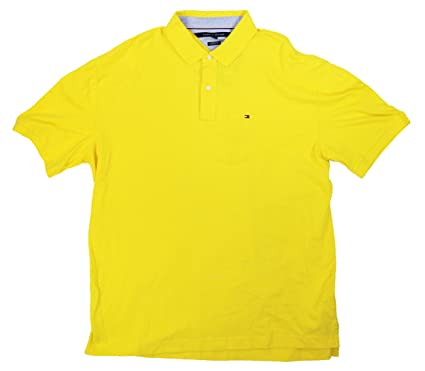 0b5d0022 Tommy Hilfiger Classic Fit Ivy Cotton Polo Shirt (Maize, XXX-Large): Amazon. co.uk: Clothing
