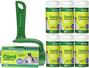 Evercare Pet Bundle: Giant Pet T Hand Roller & Giant Pet Roller Refills - 6 Pack