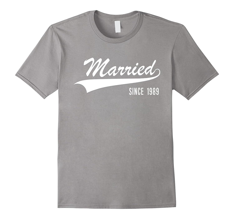 28th Wedding Anniversary Gift: 28th Wedding Anniversary Gift Shirt Married Since 1989
