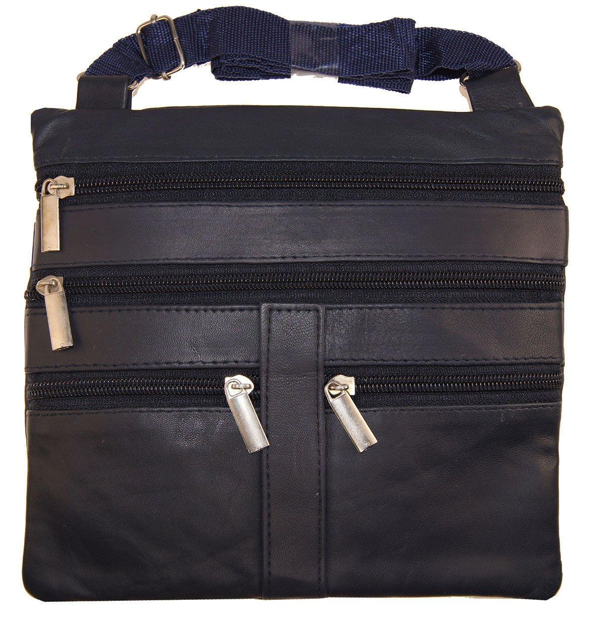 Navy Blue Ladies Genuine Leather Cross Body Bag Satchel Messenger Bag 48'' Strap by Wallet (Image #2)
