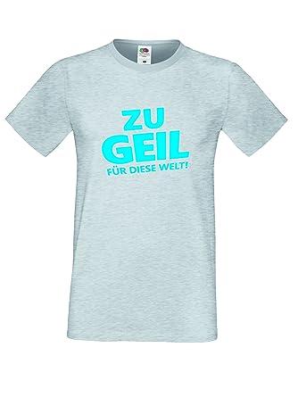 buy popular ea89e 080ed Herren Sprüche Shirt Lustiges T Shirt- Zu Geil für Diese ...