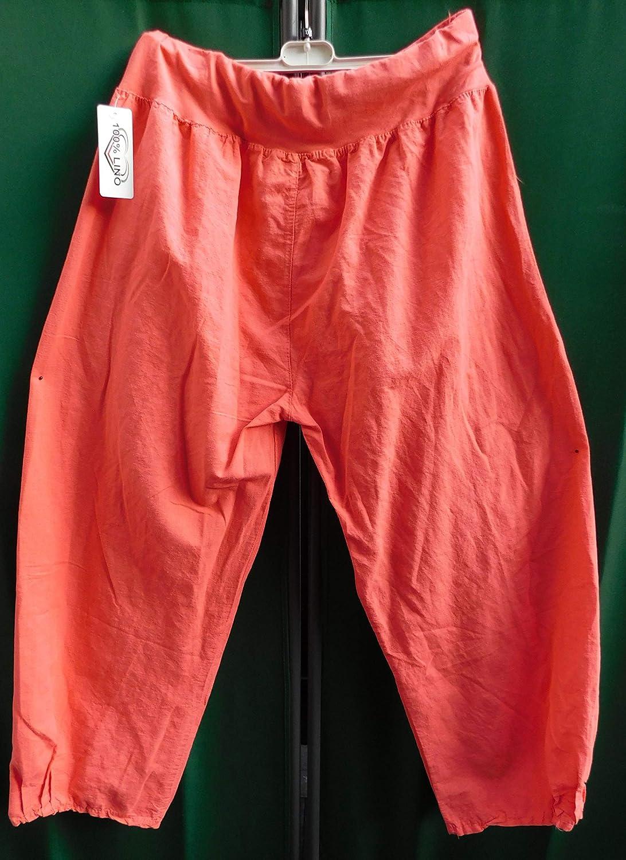 Luigi Moda Damen-Hose-Leinenhose-Ballonhose-leicht-Lagenlook-breites  Gummibund Gr.-48-50  Amazon.de  Bekleidung 362c84c8e5