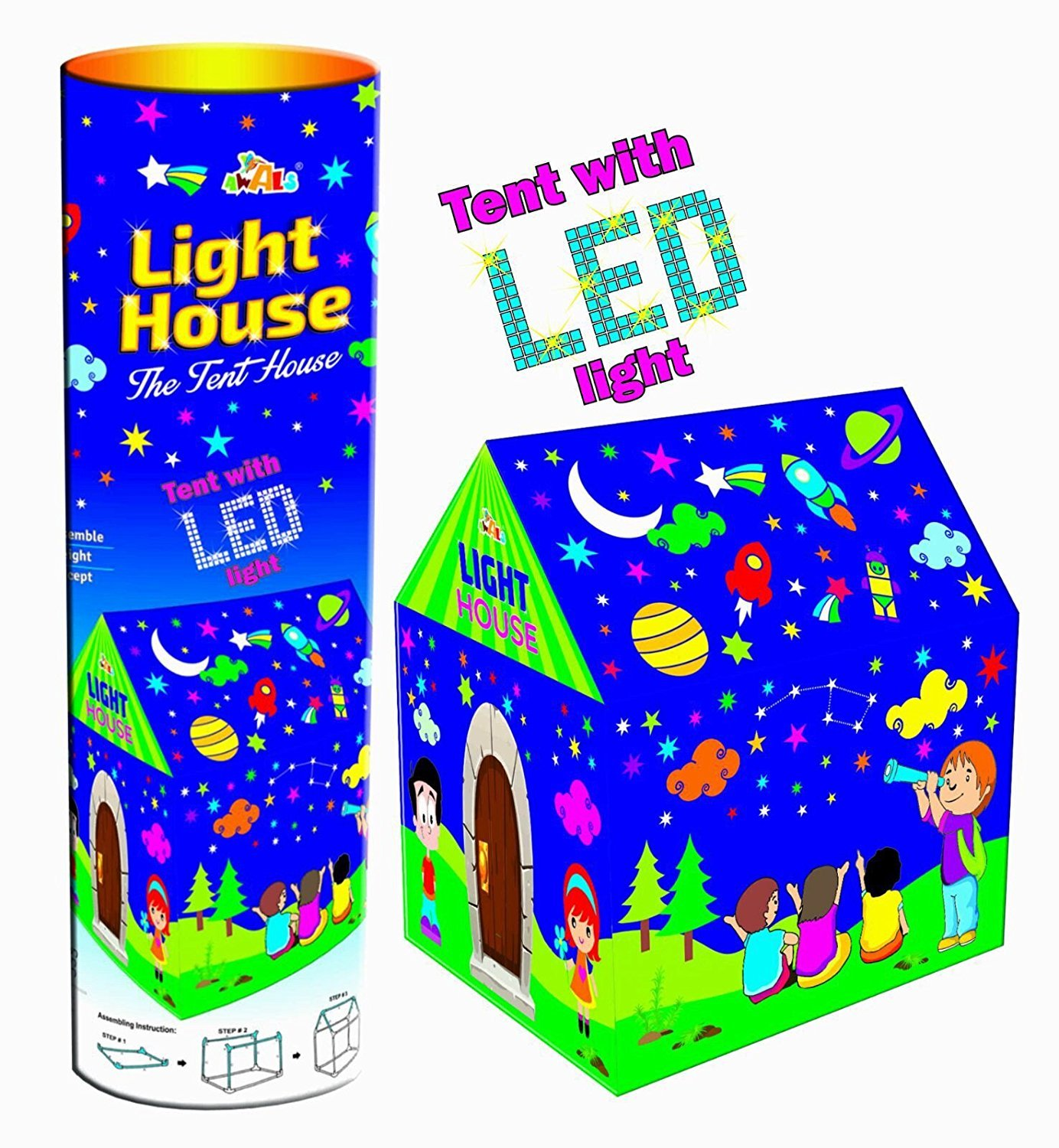 buy magicwand awals kids play tent house with led lights online at
