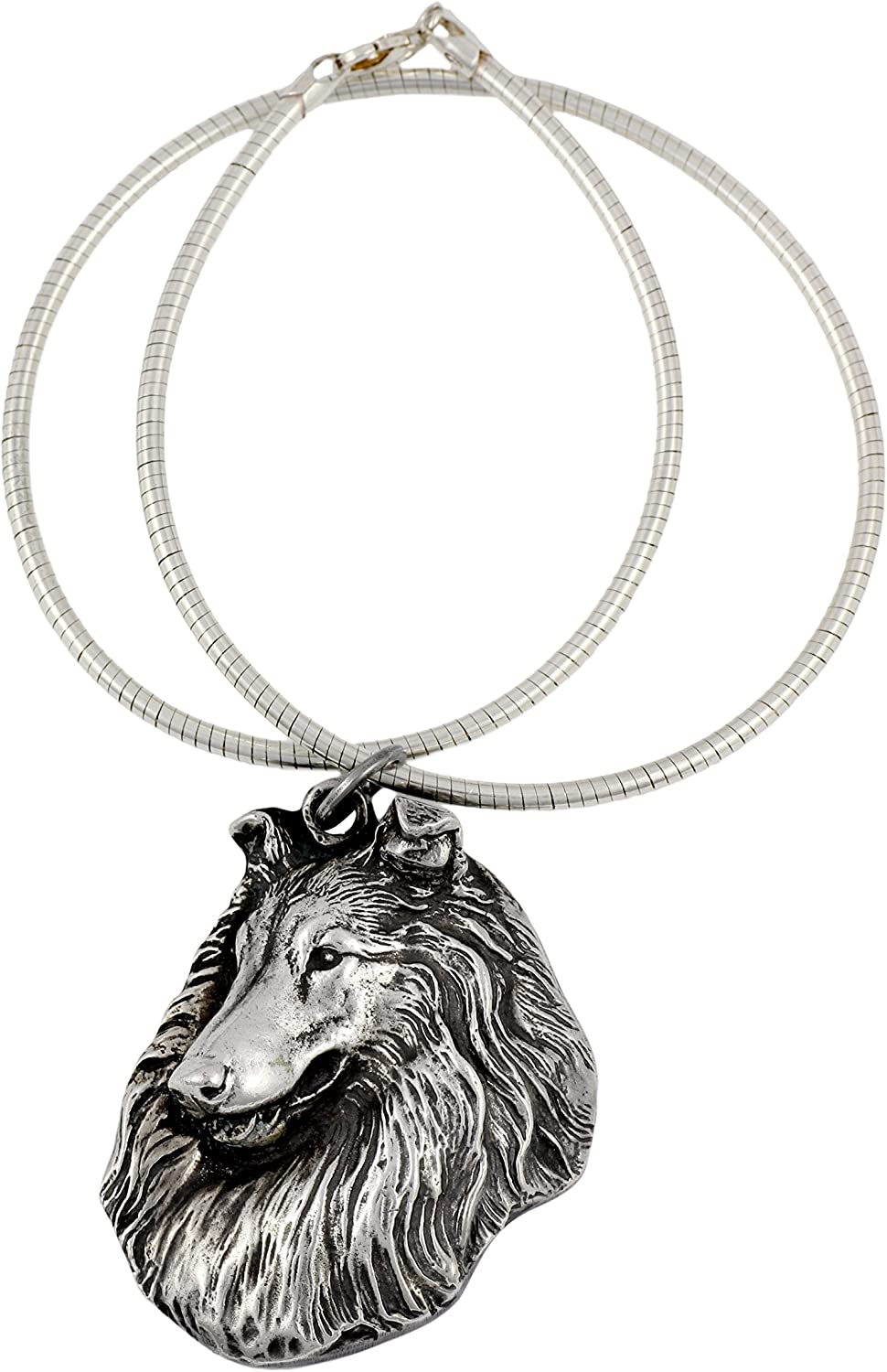 Necklace Silver Plated Dog Pendant on a Silver Chain Afghan Hound ArtDog