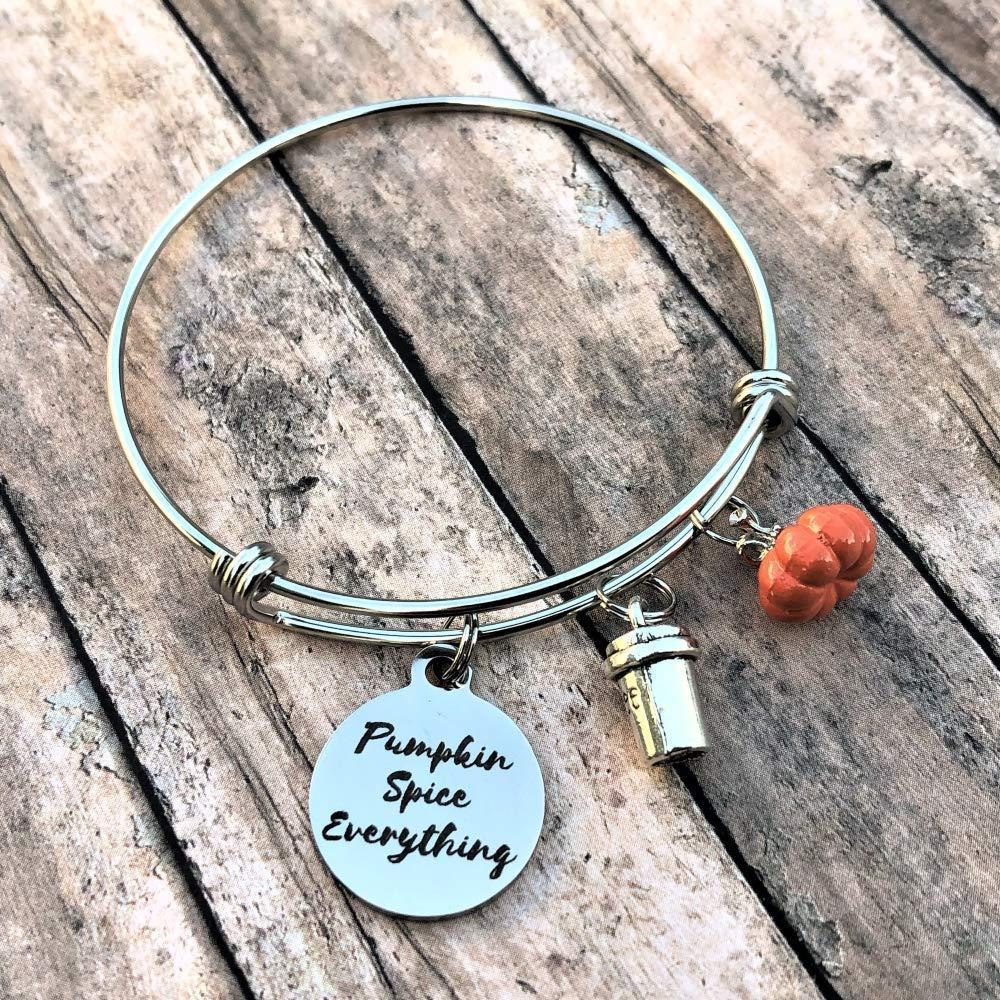 Pumpkin Spice Everything Bracelet Pumpkin Jewelry Pumpkin Spice Charm Bracelet Gift for Her Fall Accessories