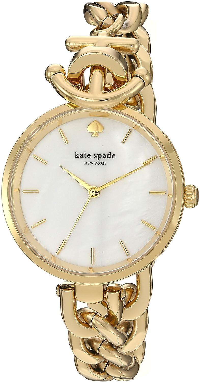 Kate Spade New York ksw1140 Holland Damen goldfarben Edelstahl Fall und Armband Perlmutt Zifferblatt Quarzuhr