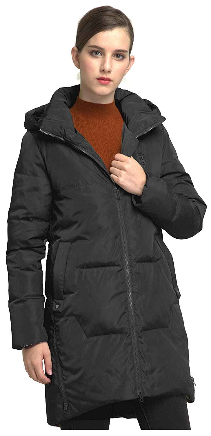 b8bbf2355d26 Orolay Women s Stylish Thickened Down Jacket Hooded Coat ...