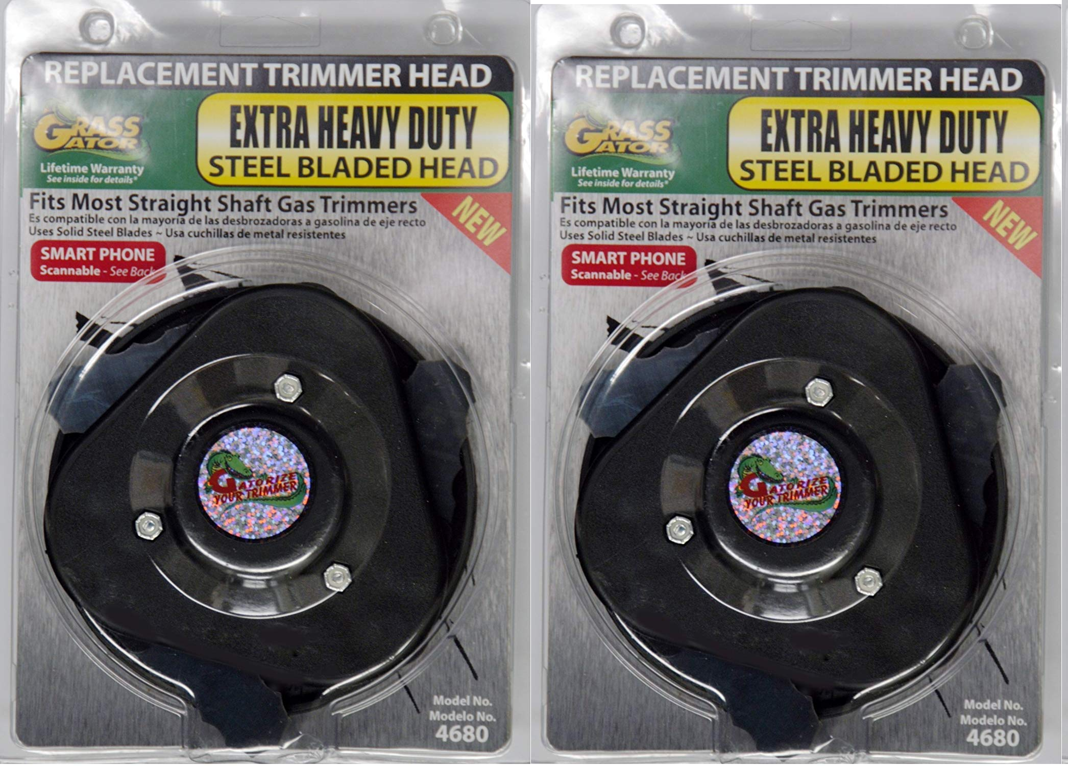 Grass Gator 4680 Brush Cutter Extra Heavy Duty Replacement Trimmer Head (2-Pack)