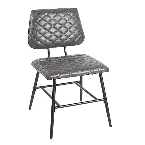 Awe Inspiring Amazon Com Deandra Dining Chair With Diamond Stitching Machost Co Dining Chair Design Ideas Machostcouk
