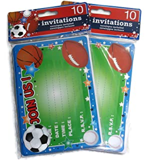 amazon com 10 sports football party invitations for kids party