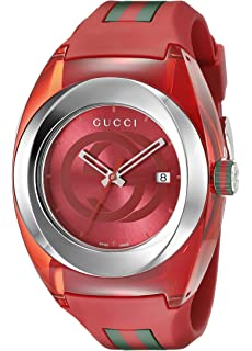 8c365fe8ea9 Amazon.com  Gucci SYNC XXL White Rubber Strap 46mm Unisex Watch ...